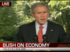 Bush delivered a statement on the economy earlier Thursday.