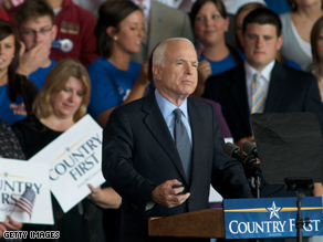 McCain campaigned in Iowa earlier Thursday.