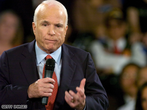 McCain said he would fire SEC chairman Cox.