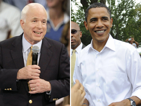Obama and McCain said sunday they would probably vote for the proposed bailout plan.