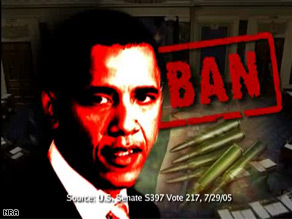The National Rifle Association released a new ad taking aim at Obama over the Second Amendment.