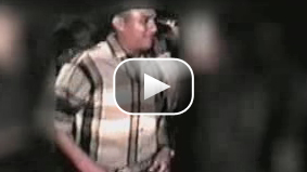 Video tape image depicts Emigdio Preciado Jr. dancing in a town holiday festival in Tepuzhuacan, Mexico, in December 2000. The video is courtesy of Los Angeles County Sheriff's Department. It has been modified and the sound removed.