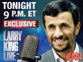 TONIGHT: Ahmadinejad Exclusive