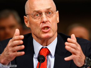 Treasury Secretary Paulson testified before the banking committee Tuesday.
