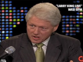 Former Pres. Clinton weighs in on the White House race Wednesday night on Larry King Live.