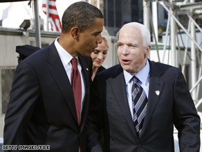 Sens. Obama and McCain issued a rare joint statement Wednesday about the financial and economic challenges the country is facing.