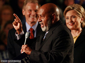 Rep. Alcee Hastings of Florida, in the foreground, supported Sen. Hillary Clinton during the primaries but is now urging Democrats to support Sen. Barack Obama.