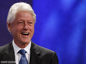 Bill Clinton is campaigning in Virginia for his friend Terry McAuliffe.
