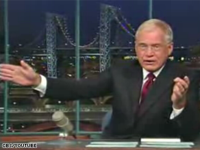 Letterman wasn't happy McCain canceled on him.