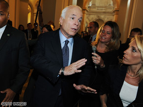 CNN's Dana Bash was on Capitol Hill with Sen. McCain Thursday.