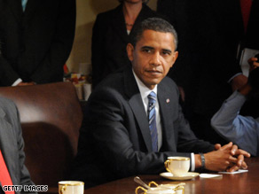 Sen. Obama returned to Washington Thursday to discuss the bailout plan.