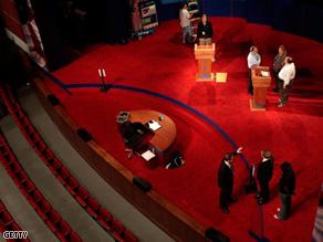 Rehearsals for Friday'spresidential debate betweenSen. John McCain andSen. Barack Obama at the University of Mississippi.