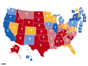Michigan changes columns in CNN's latest update of the Electoral College Map.