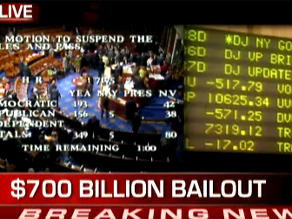 The House of Representatives rejected the bailout plan Monday. Watch live coverage on CNN.com/live.