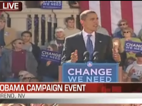 Obama campaigned in Reno Tuesday.