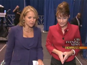 Palin told CBS&#039; Katie Couric she represents &#039;new energy.&#039;