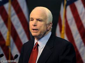 Sen. McCain says $700 billion financial plan should be called a 'rescue effort,' not a bailout.