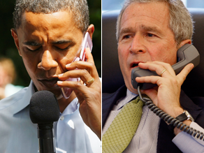 Obama called Bush Tuesday morning.
