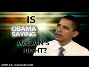 The McCain campaign called Sen. Obama a hypocrite in a web video released Tuesday.