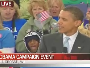 Obama campaigned in Wisconsin earlier Wednesday.
