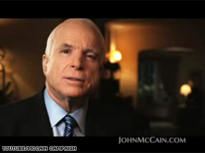 Sen. McCain&#039;s new television ad focuses on the economy as the nation faces a financial crisis.