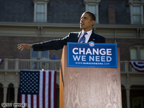 Sen. Obama spoke in Reno, Nevada Tuesday.