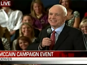 McCain campaigned in Denver earlier Thursday