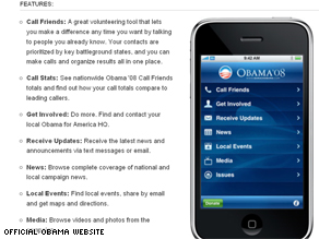 Barack Obama's campaign recently launched a new Apple iPhone application.