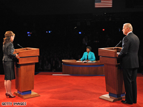 Palin and Biden discuss Bush administration.
