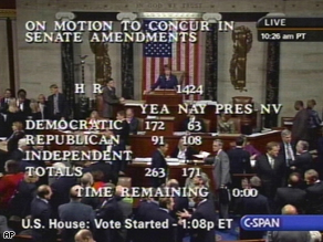 The House of Representatives has passed historic legislation to bail out the troubled financial industry.