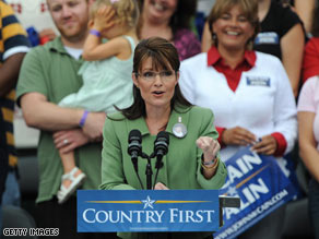 Gov. Palin commented about Sen. Obama and William Ayers at a rally in Carson, California Saturday.