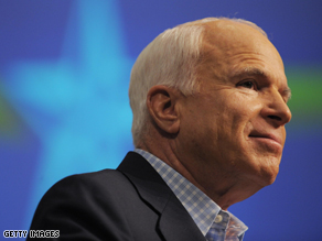 McCain suggests Obama at fault for bailout delay.