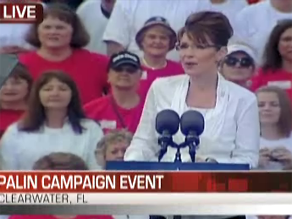 Palin held a campaign rally in Clearwater, Florida.
