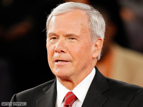 Brokaw in control of the deabte.