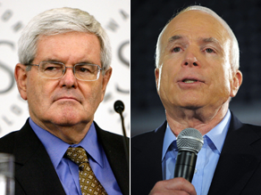 Gingrich says McCain should come out against the bailout.