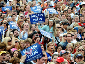 Supporters of Sarah Palin at a campaign rally on Saturday.