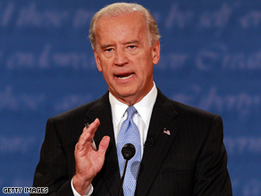 Joe Biden said in Tampa Wednesday that the McCain camp has 'chosen to appeal to fear'.