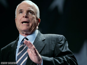 Sen. McCain is the target of a health care group's new ad.