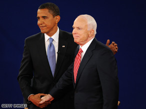 Sen. Obama suggested Sen. McCain was 'cheerleading the president to go into Iraq.'
