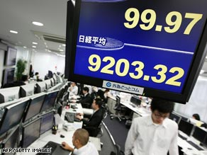 The Nikkei Index suffered a horrid day.