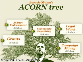 The RNC launched a new Web site Friday about Sen. Obama's relationship with ACORN on the same day that the McCain campaign also sought to highlight the same issue.