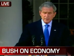 President Bush worked to calm American&#039;s fears Friday.