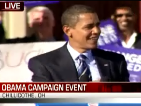 Obama campaigned in Ohio earlier Friday