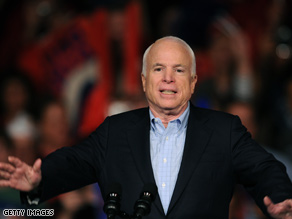 McCain predicted a win at Wednesday's debate.
