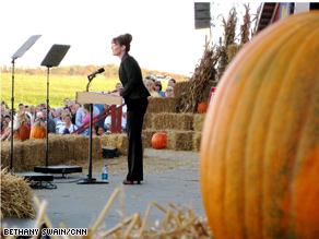 Palin visited the crucial battleground state of Ohio Sunday.