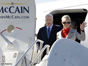 McCain is campaigning in states he had hoped to have sewn up at this point in the race.