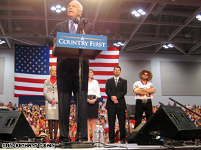 McCain and Palin held a rally in Virginia Beach earlier Monday.