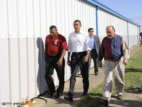 Sen. Obama campaigned in Ohio Tuesday.