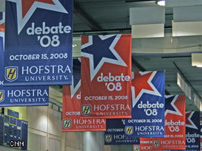 Inside the Spin Room at the final presidential debate.
