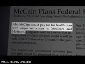Sen. Obama&#039;s new tv ad attacks Sen. McCain&#039;s health care reform plan.